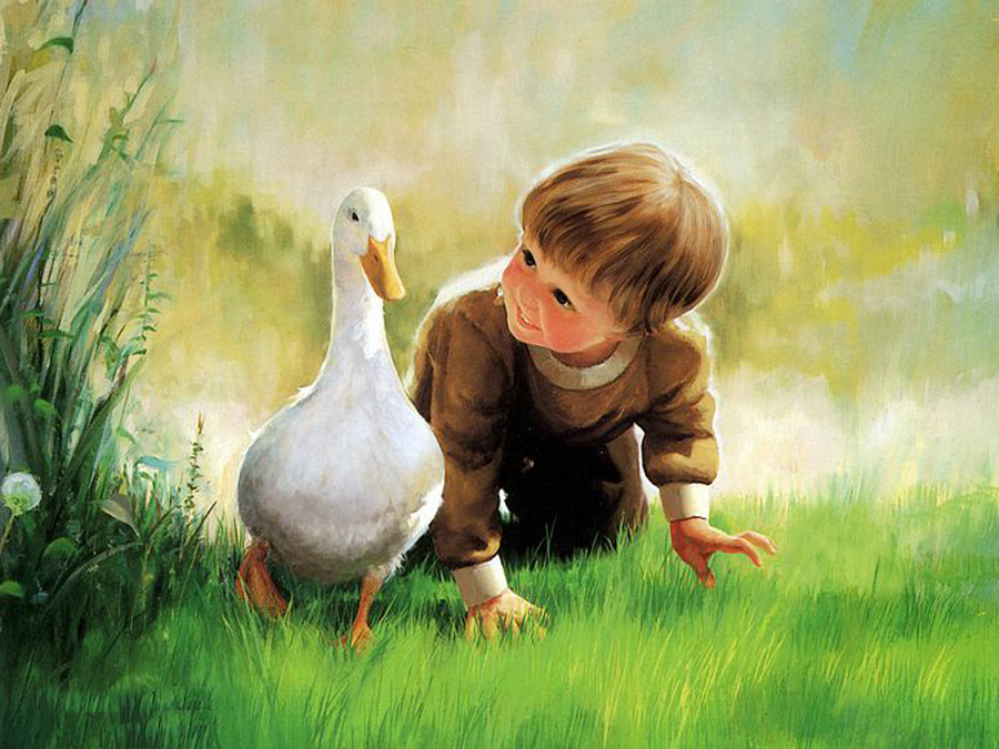 Boy with Duck